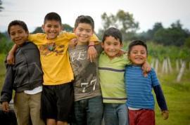 photo of boys outside